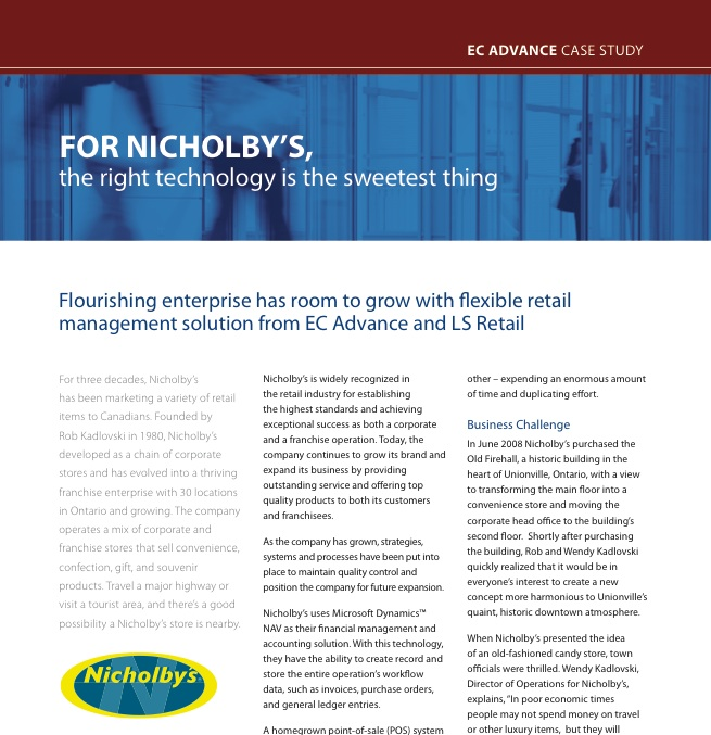 EC Advance-Nicholby Case Study